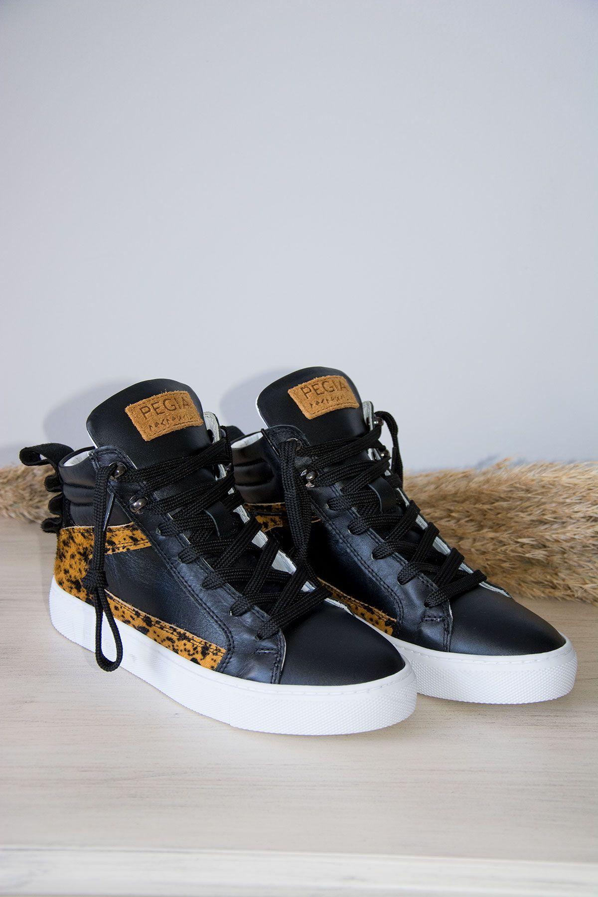 Pegia Genuine Leather Women's Sneaker LA1206 Yellow