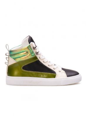 Pegia Genuine Leather Women's Sneaker LA1207 Green