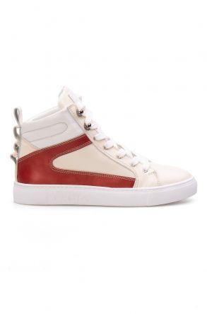Pegia Hakiki Deri Kadın Sneaker LA1208 Beyaz