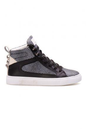 Pegia Hakiki Deri Kadın Sneaker LA1209 Gri