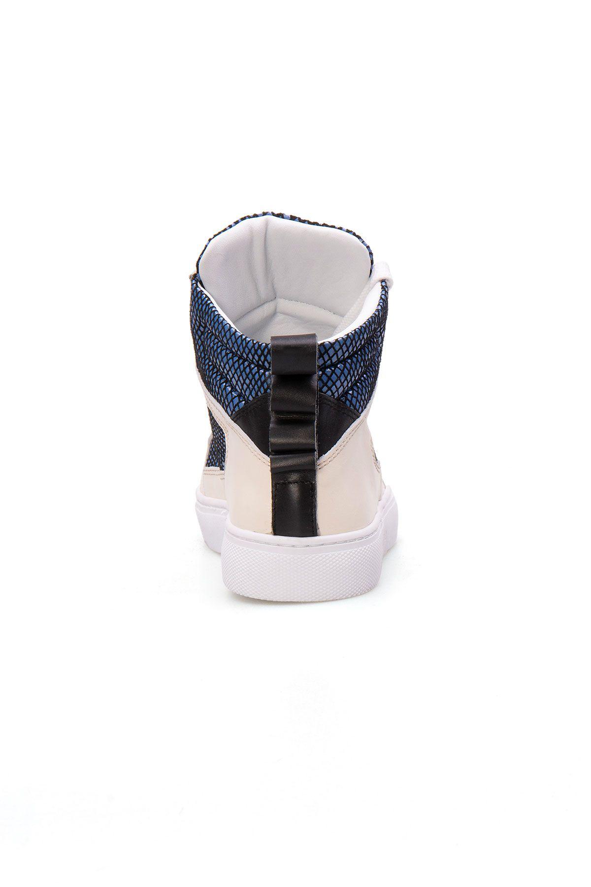 Pegia Genuine Leather Women's Sneaker LA1211 Blue