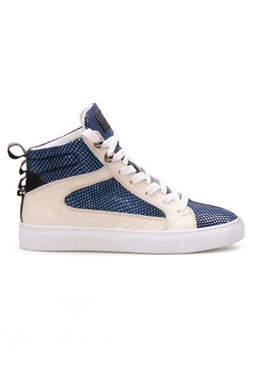 Pegia Genuine Leather Women's Sneaker LA1211 Blue