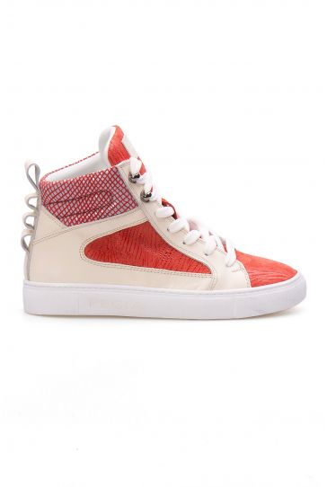 Pegia Genuine Leather Women's Sneaker LA1213 Red