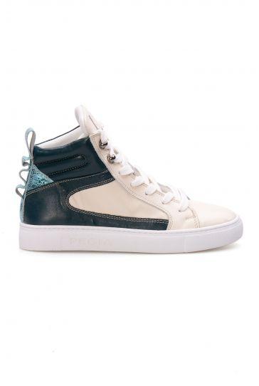 Pegia Genuine Leather Women's Sneaker LA1214 White