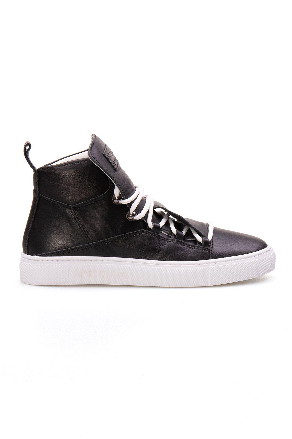 Pegia Genuine Leather Women's Sneaker LA1301 Black