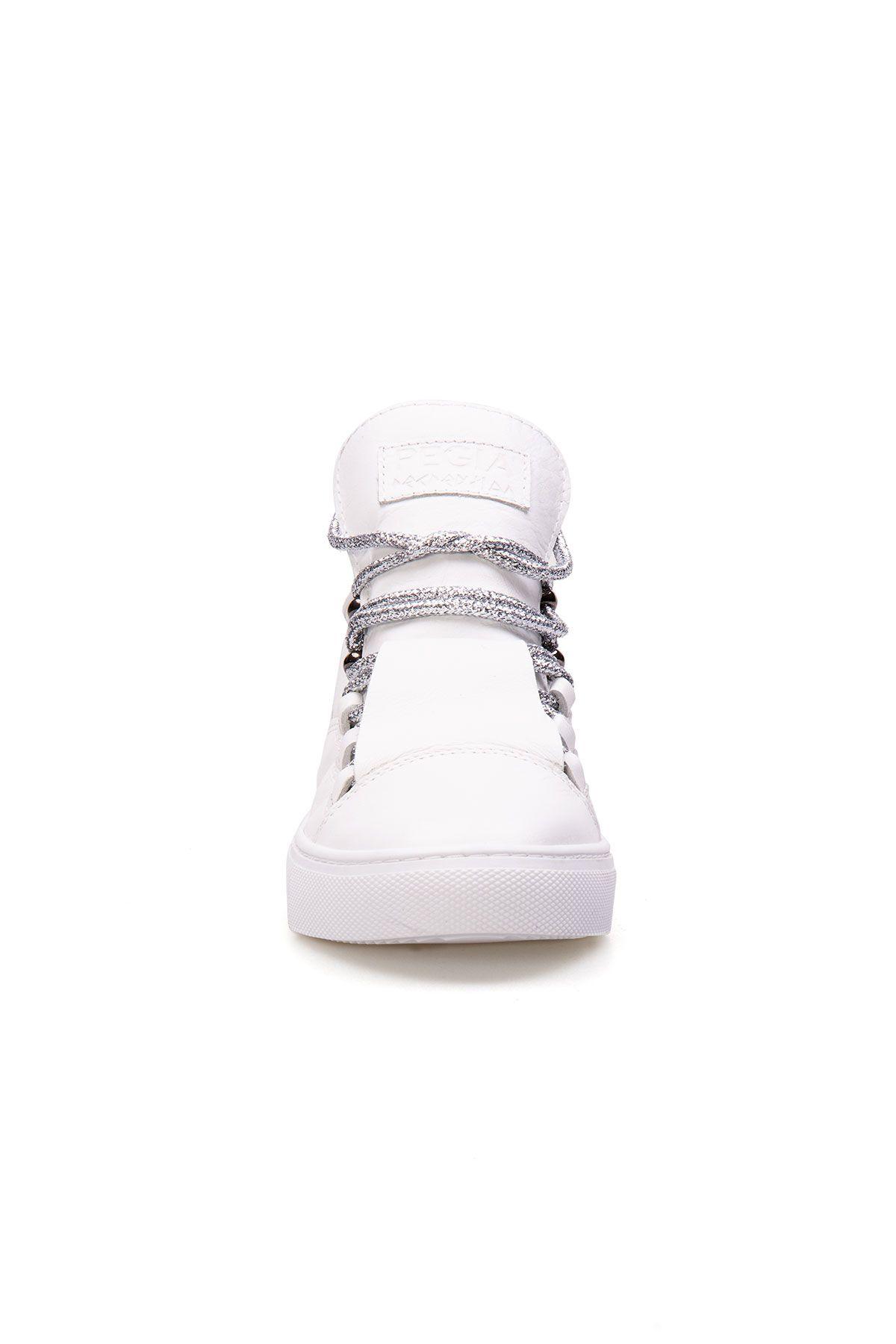 Pegia Genuine Leather Women's Sneaker LA1302 White