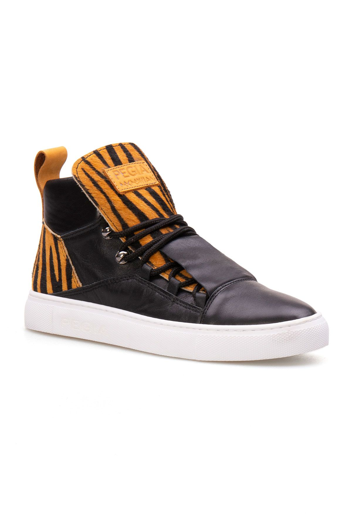 Pegia Genuine Leather Women's Sneaker LA1306 Yellow