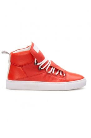 Pegia Genuine Leather Women's Sneaker LA1307 Pomegranate