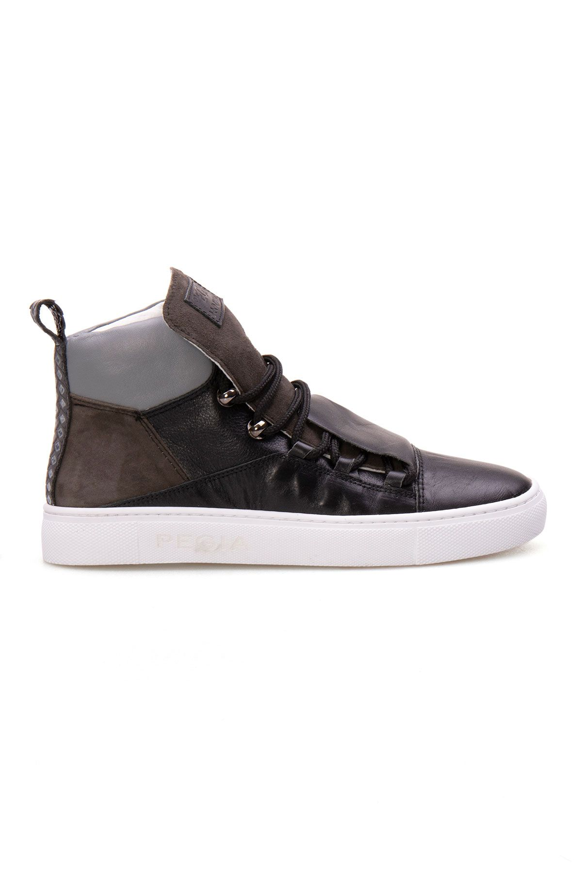 Pegia Genuine Leather Women's Sneaker LA1308 Black