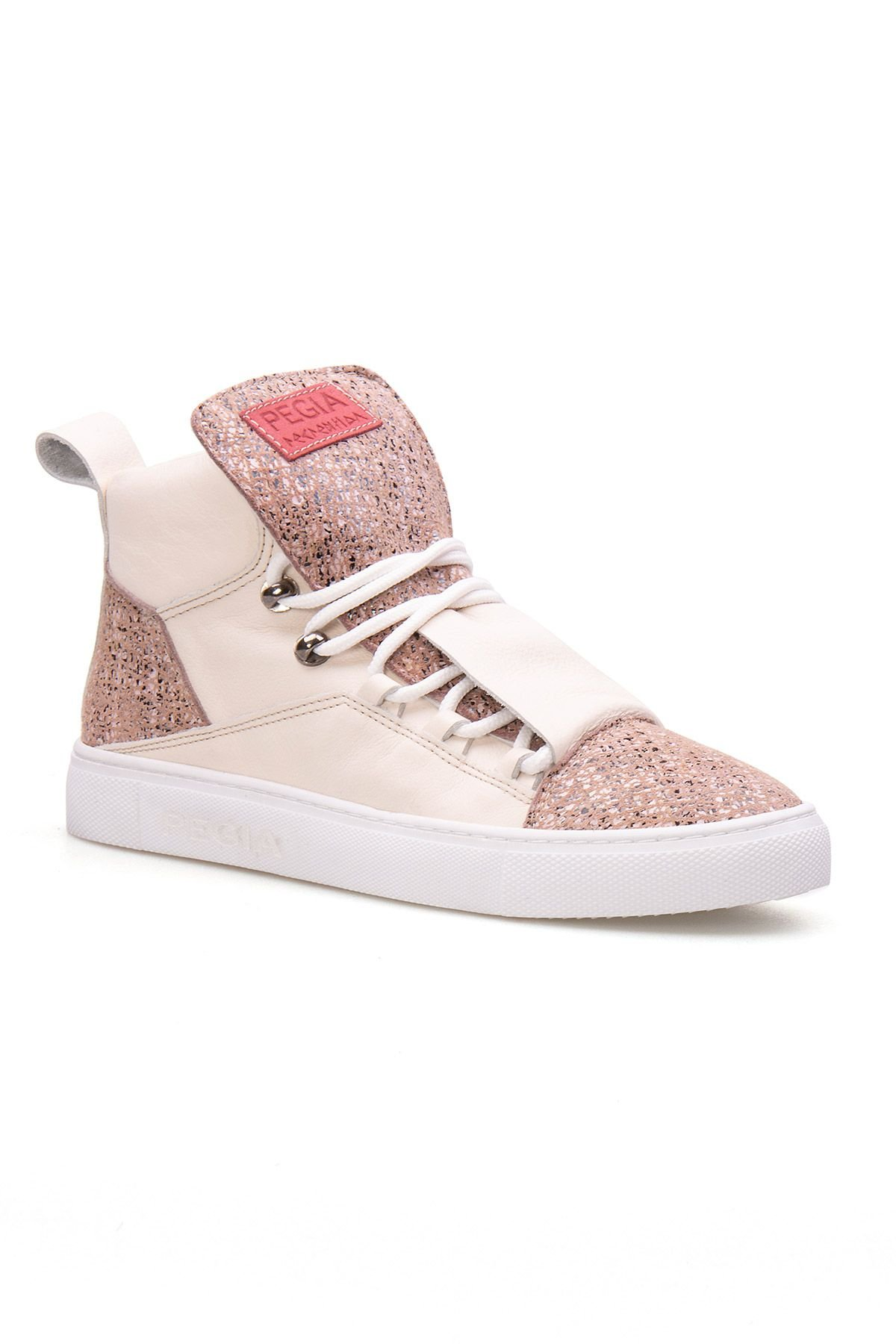 Pegia Genuine Leather Women's Sneaker LA1310 Beige