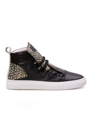 Pegia Genuine Leather Women's Sneaker LA1311 Black