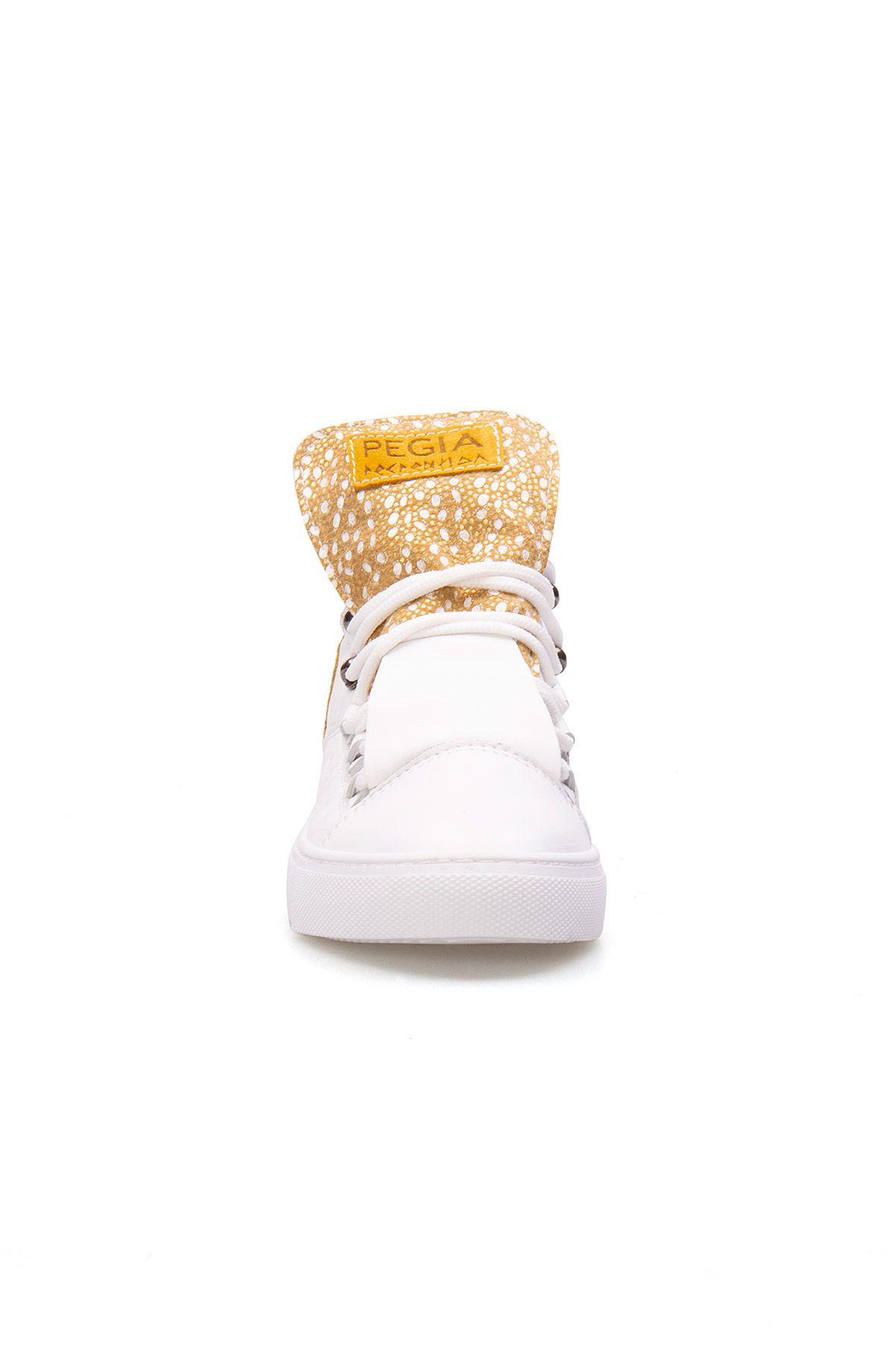 Pegia Genuine Leather Women's Sneaker LA1312 Yellow
