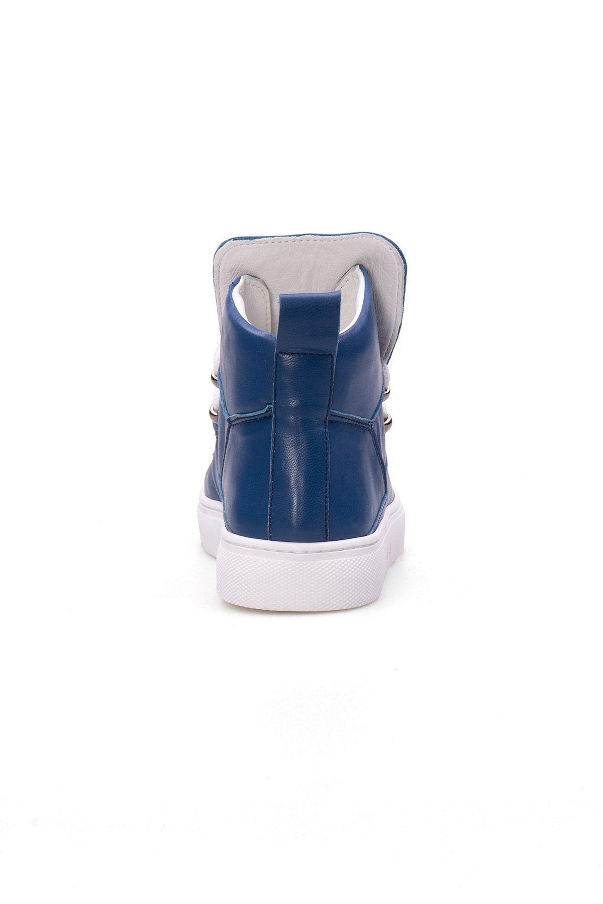Pegia Genuine Leather Women's Sneaker LA1314 Blue
