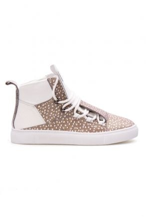 Pegia Genuine Leather Women's Sneaker LA1315 Gray