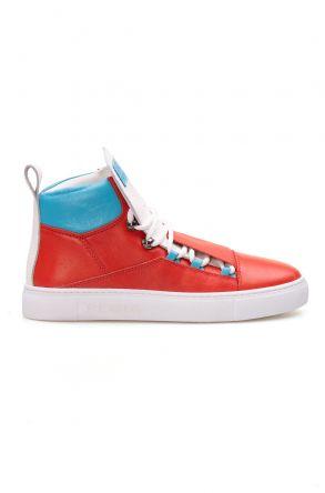 Pegia Hakiki Deri Kadın Sneaker LA1316 Turuncu