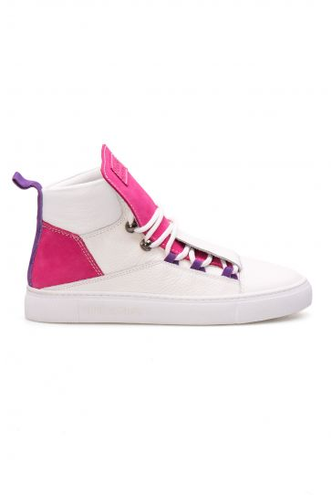 Pegia Genuine Leather Women's Sneaker LA1317 White