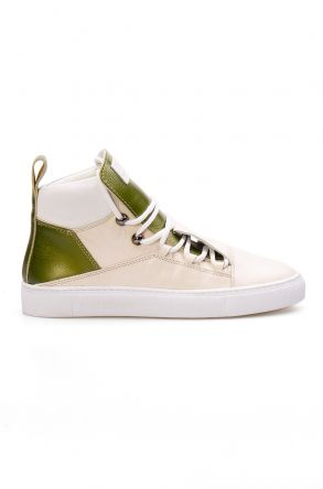 Pegia Hakiki Deri Kadın Sneaker LA1318 Yeşil