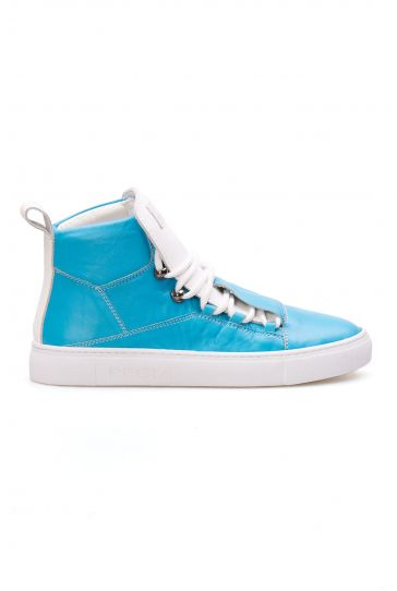 Pegia Genuine Leather Women's Sneaker LA1319 Blue
