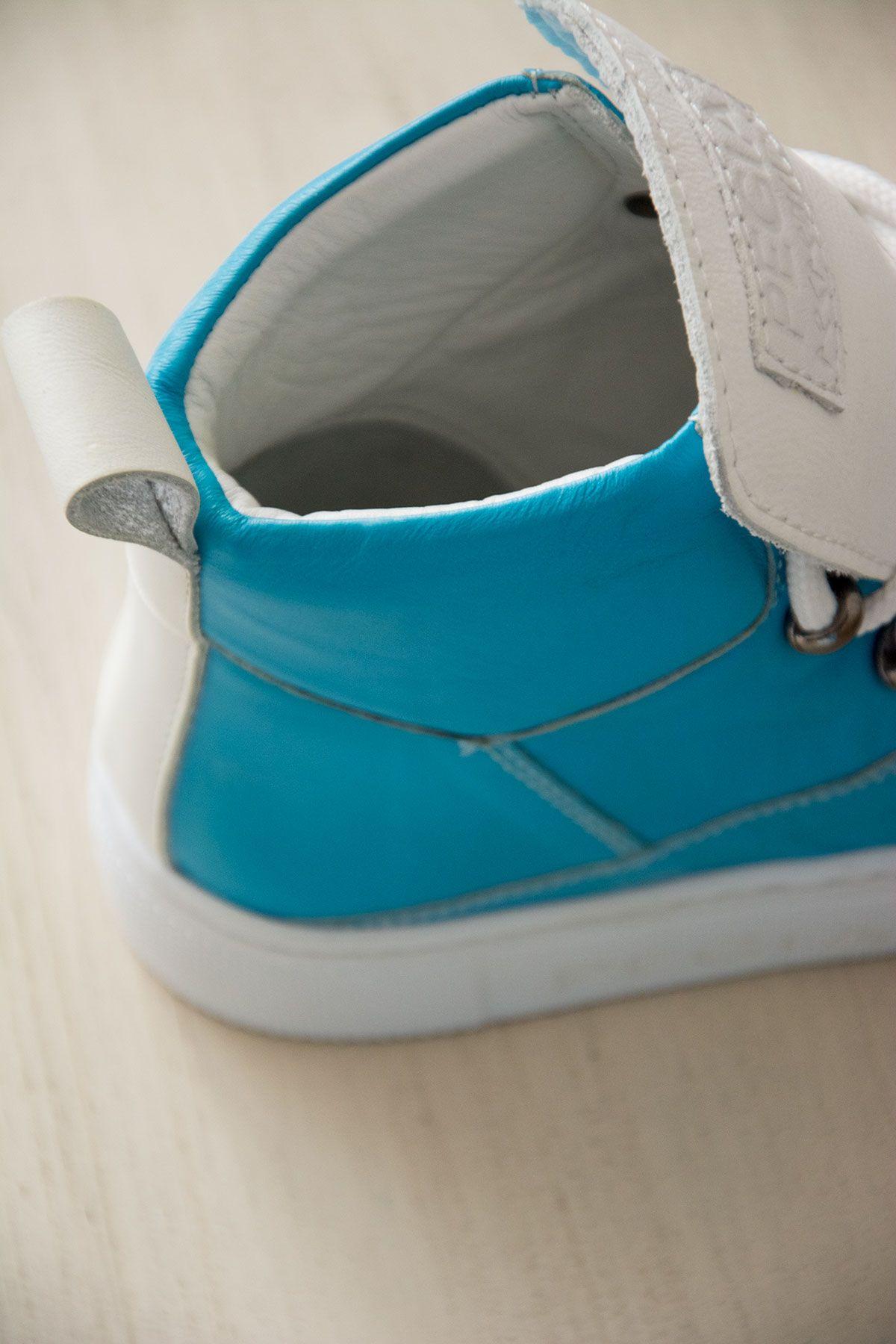 Pegia Genuine Leather Women's Sneaker LA1319 Blue