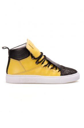 Pegia Hakiki Deri Kadın Sneaker LA1320 Sarı