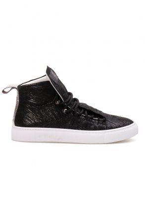 Pegia Genuine Leather Women's Sneaker LA1321 Black
