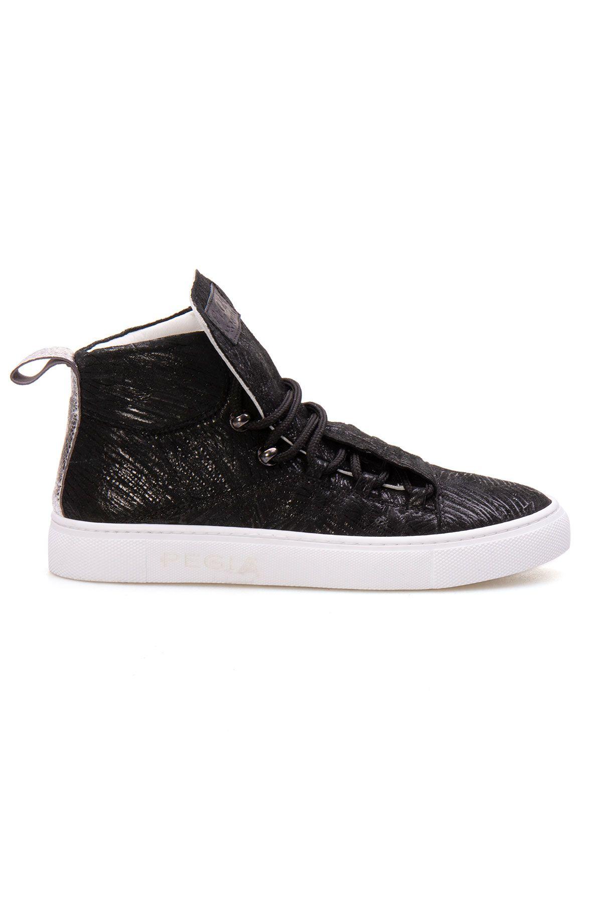 Pegia Genuine Leather Women's Sneaker LA1321 Black