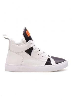 Pegia Genuine Leather Women's Sneaker LA1407 Black