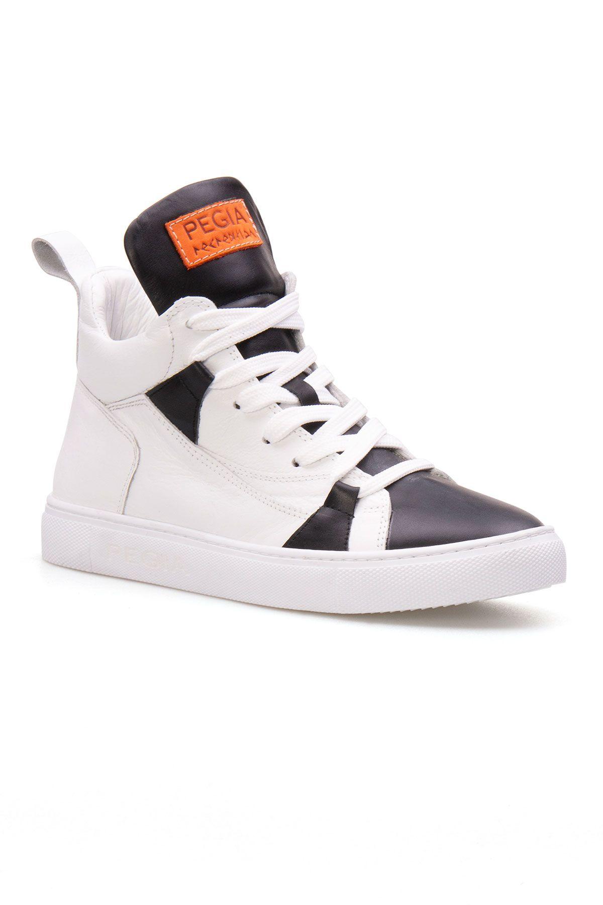 Pegia Genuine Leather Women's Sneaker LA1407 Black