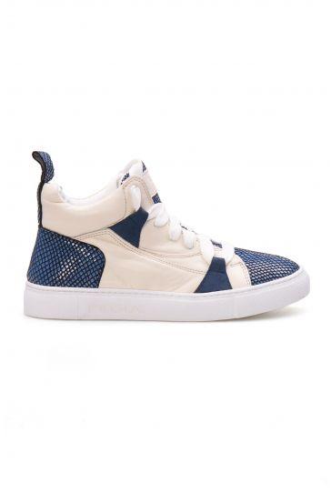 Pegia Genuine Leather Women's Sneaker LA1409 Blue