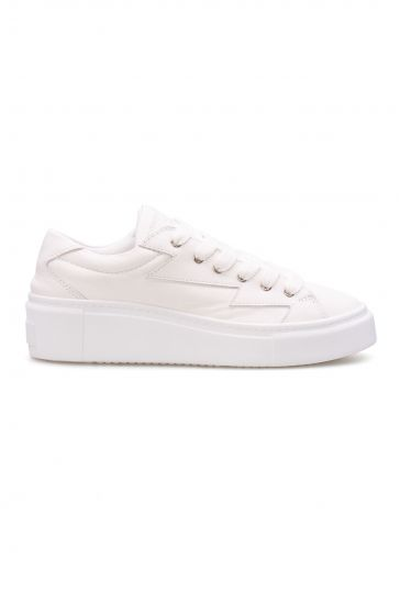 Pegia Genuine Leather Women's Sneaker LA1505 White