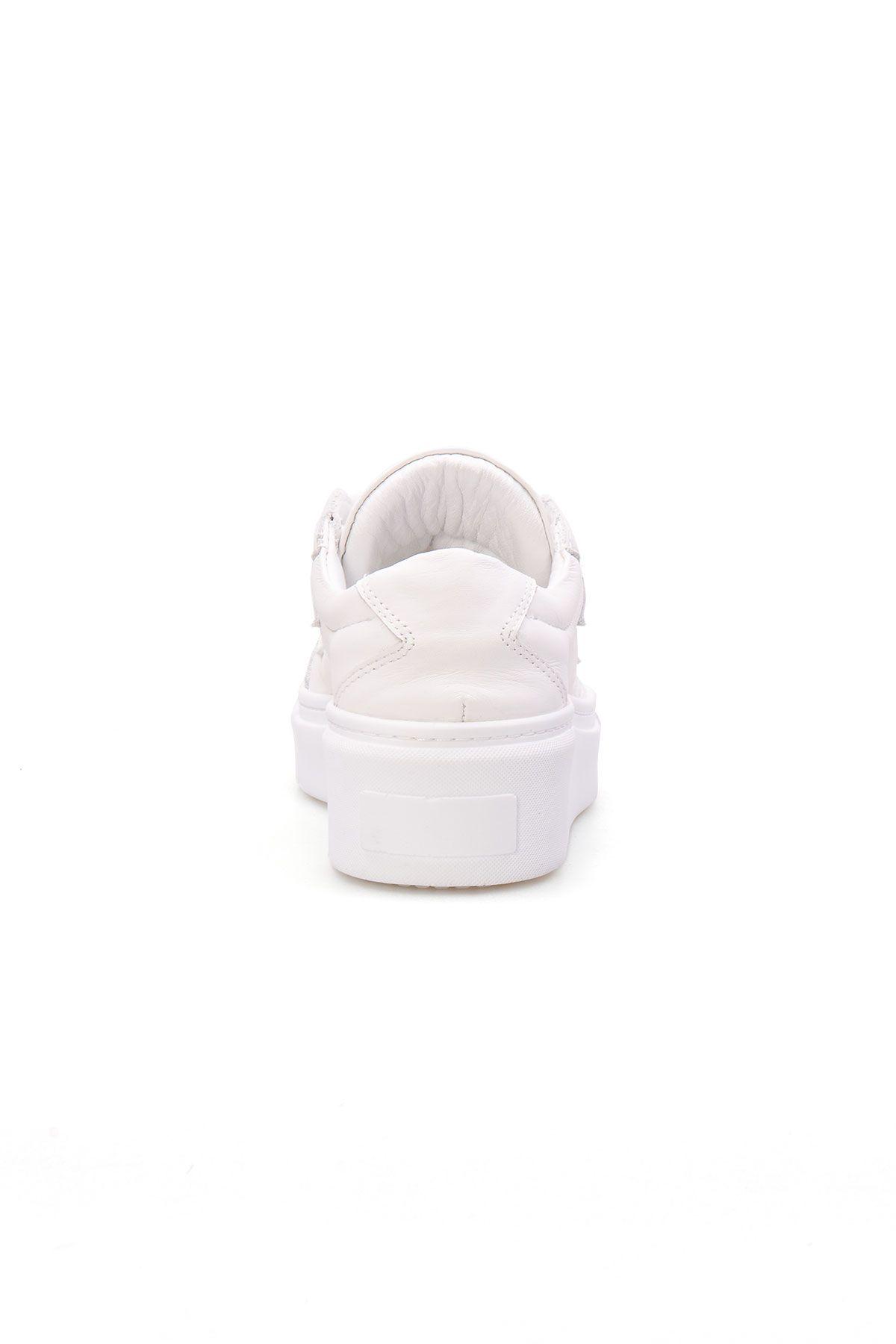 Pegia Genuine Leather Women's Sneaker LA1505 White