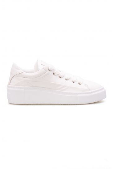 Pegia Genuine Leather Women's Sneaker LA1603 White