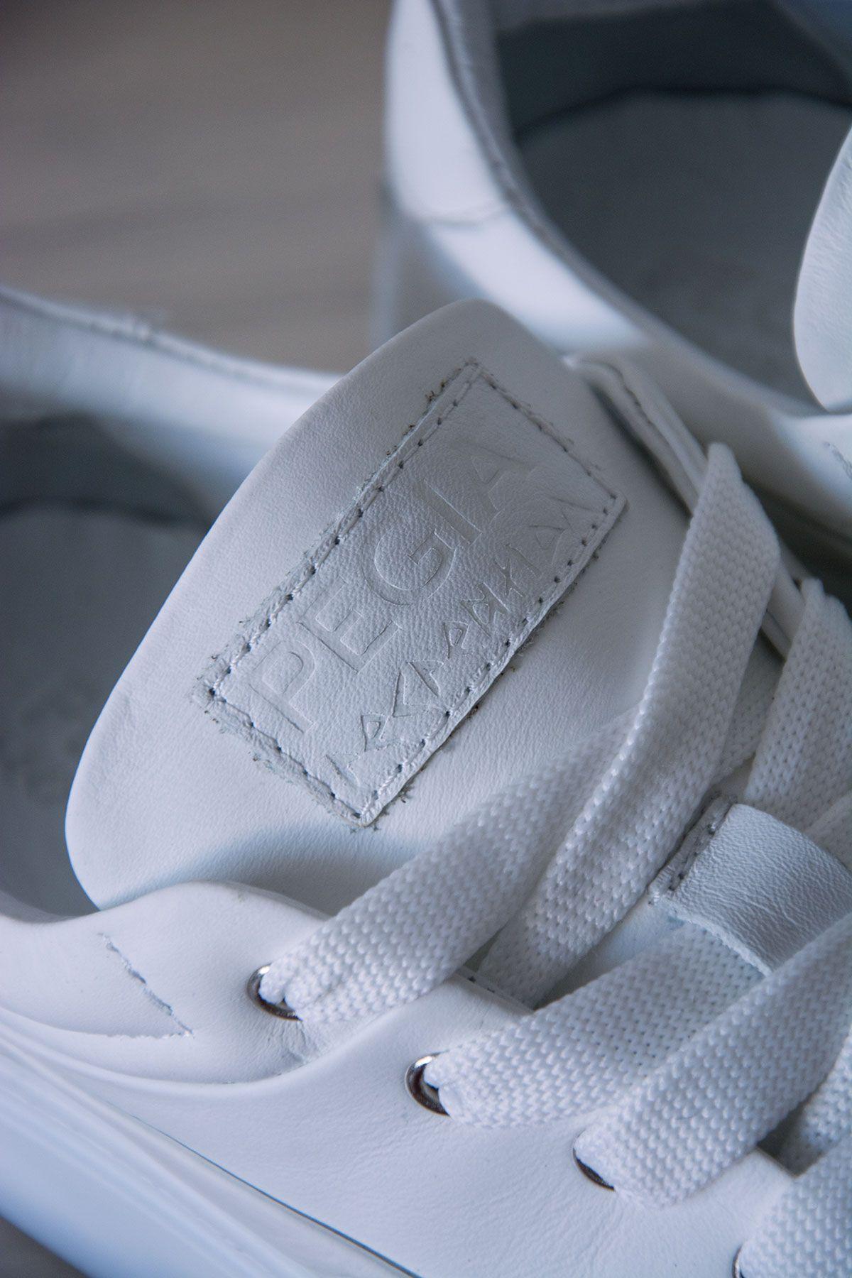Pegia Genuine Leather Women's Sneaker LA1603 White