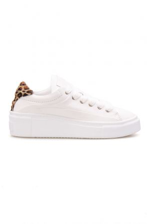 Pegia Genuine Leather Women's Sneaker LA1604 White