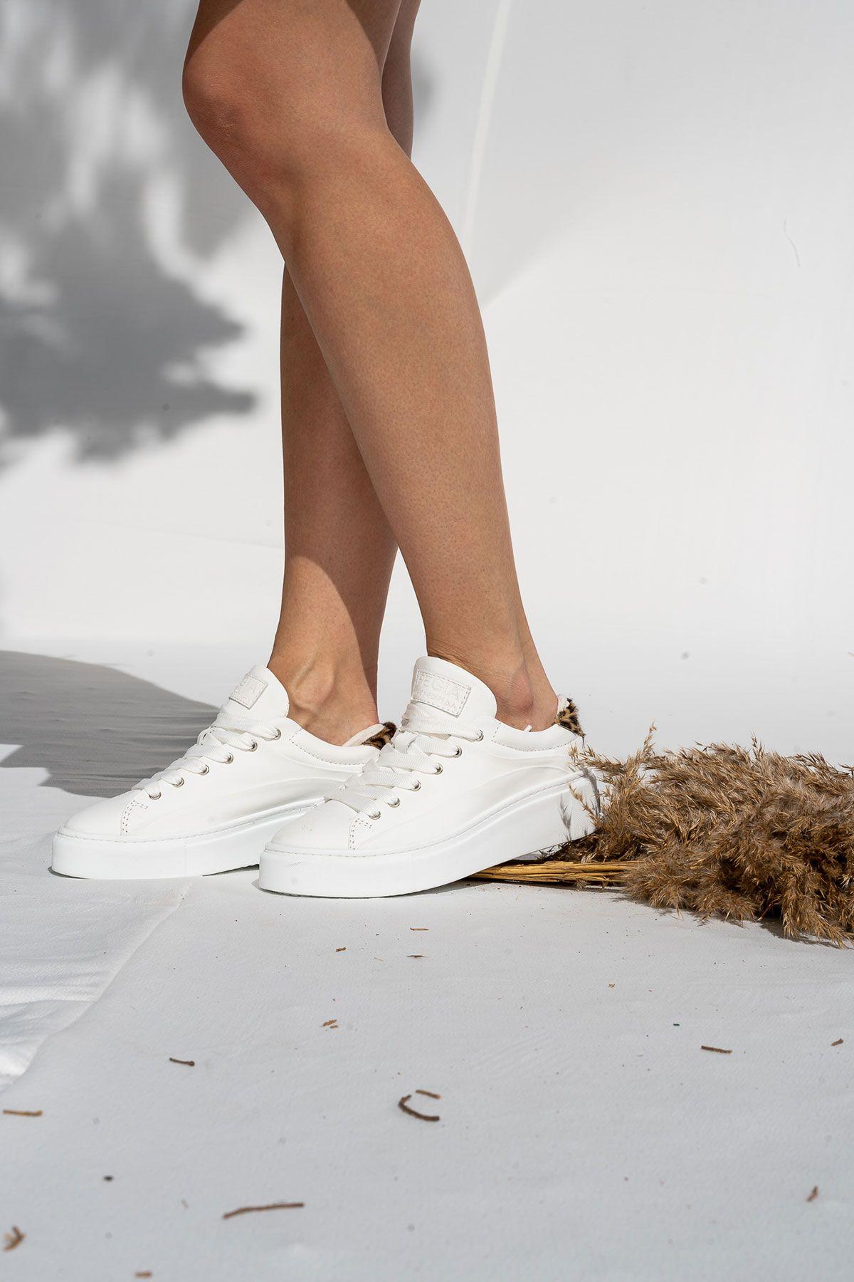 Pegia Genuine Leather Women's Sneaker LA1604 White