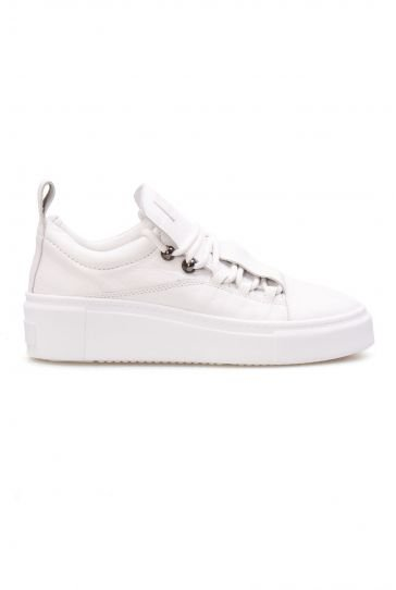Pegia Genuine Leather Women's Sneaker LA1701 White