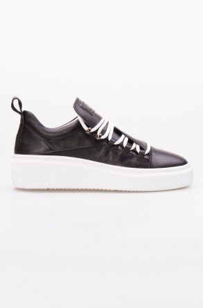 Pegia Hakiki Deri Kadın Sneaker LA1702 Siyah