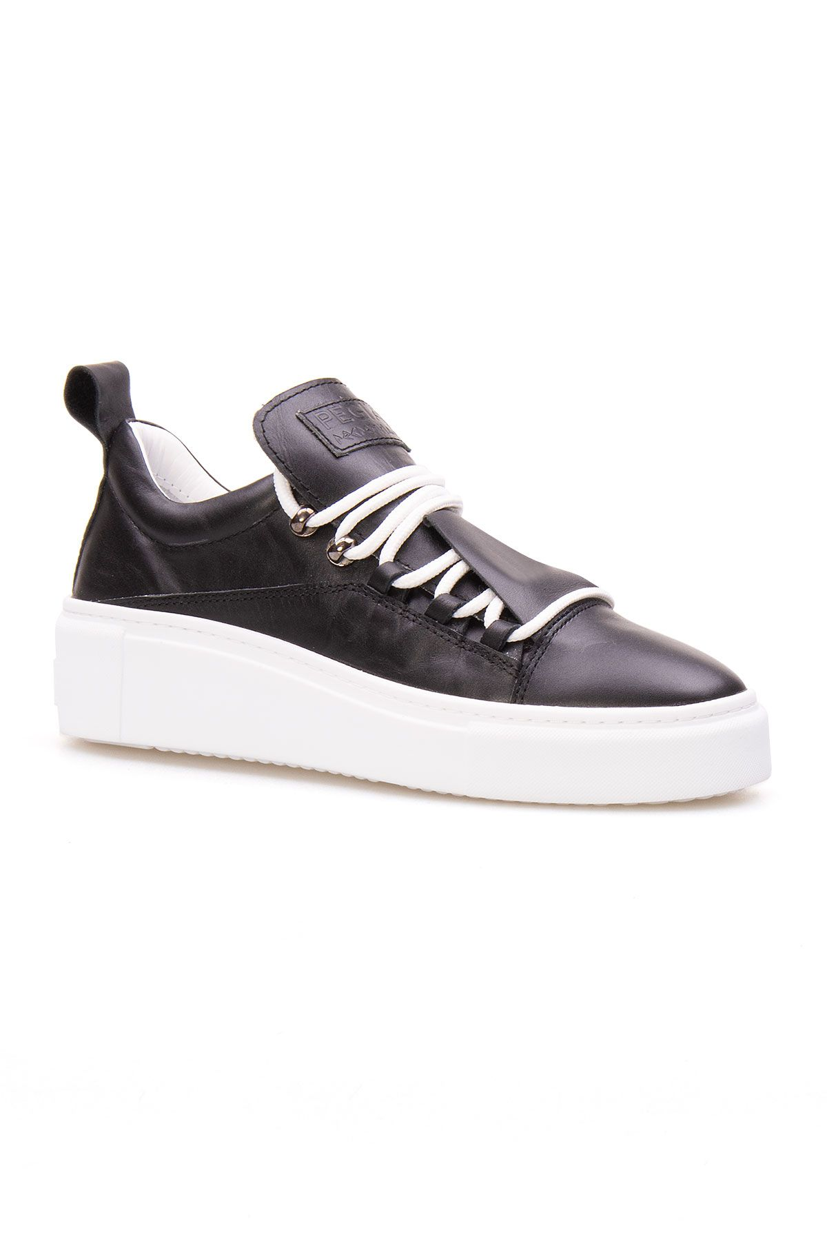 Pegia Genuine Leather Women's Sneaker LA1702 Black