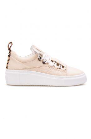 Pegia Genuine Leather Women's Sneaker LA1703 Beige