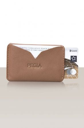 Pegia Genuine Leather Cardholder 19CZ102 Brown