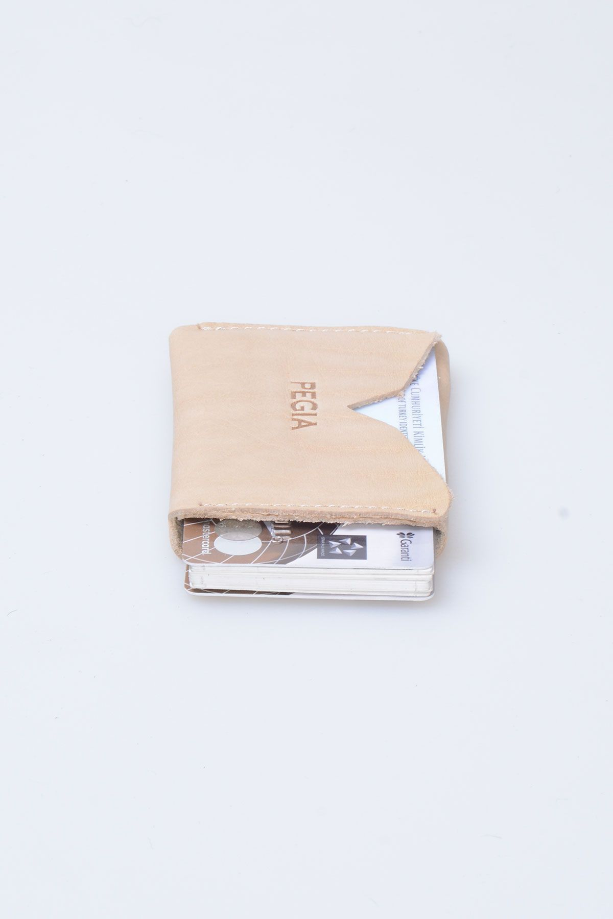 Pegia Genuine Leather Cardholder 19CZ102 Cream