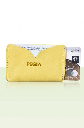 Pegia Genuine Leather Cardholder 19CZ102 Light Green