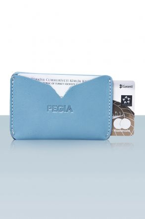 Pegia Genuine Leather Cardholder 19CZ102 Blue