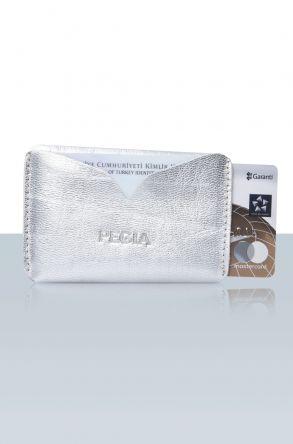 Pegia Hakiki Deri Kartlık Cüzdan 19CZ101 Gümüş
