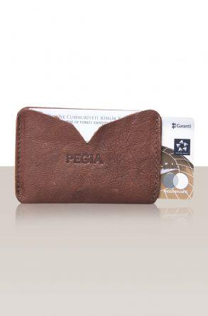 Pegia Hakiki Deri Kartlık Cüzdan 19CZ101 Темно-коричневый