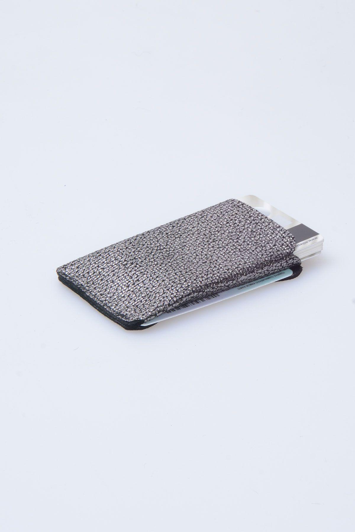 Pegia Hakiki Deri Kartlık Cüzdan 19CZ109 Gümüş