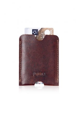 Pegia Genuine Leather Cardholder 19CZ200 Brown