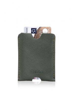Pegia Genuine Leather Cardholder 19CZ200 Green