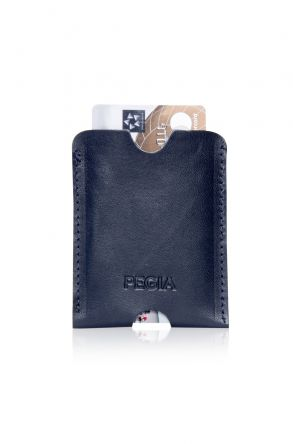 Pegia Genuine Leather Cardholder 19CZ200 Navy blue