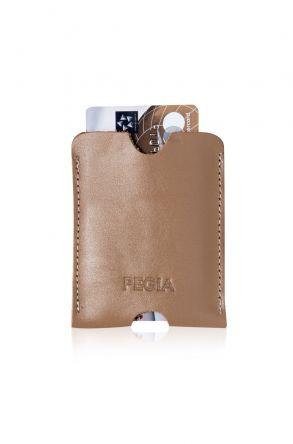 Pegia Genuine Leather Cardholder 19CZ200 Cream